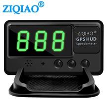 Car Head Up Display GPS HUD Speedometer C60 Universal UP Digital Overspeed Alert