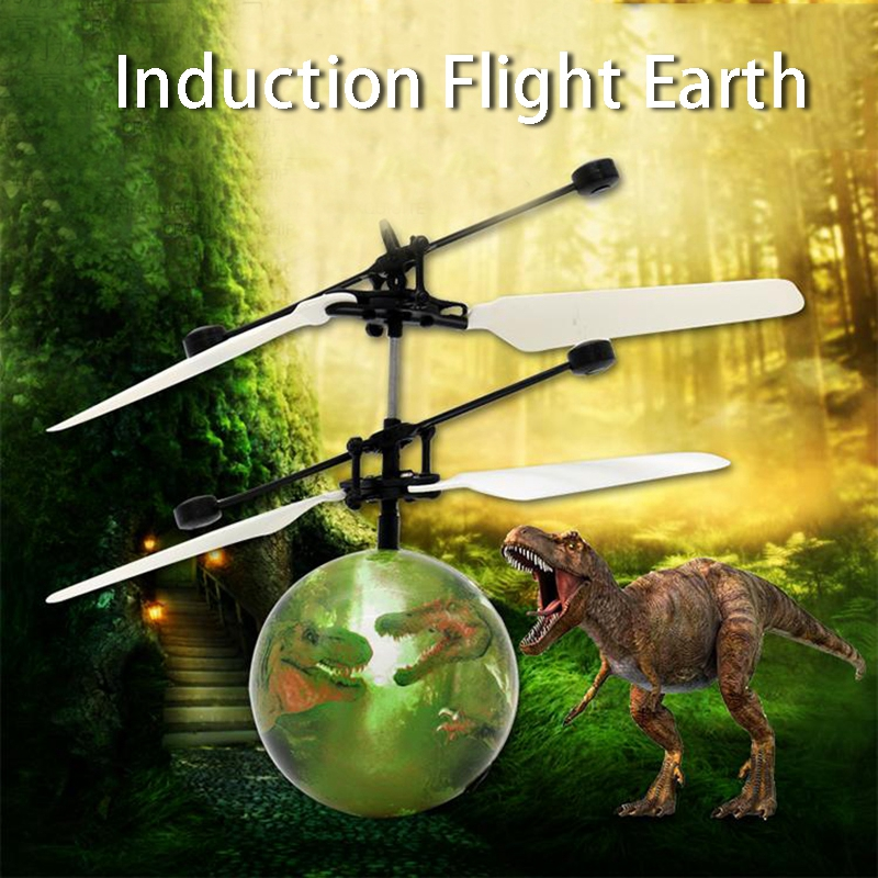 Infrared Induction Drone Flying Flash LED Lighting Ball Helicopter Child Toy Gesture-Sensing Helicopter Remote Control USB Charg
