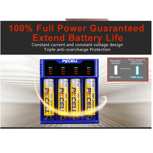 Image 3 - 1Pcs * PKCELL 배터리 충전기 1.2V 3.7V 3.2V AA AAA 26650 18650 18350 14500 10440 CRCR123A 5V 2A LED 디스플레이 USB 라인