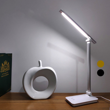 Junejour Led Tafellamp Bureaulamp Dimbare Aanraken Sensor Opvouwbare Ogen Beschermen Met Usb Zwart/Zilver/Goud
