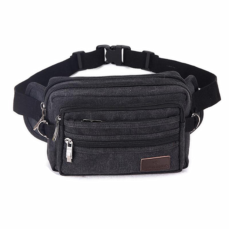 High Quality Canvas Men Waist Packs Chest Bags Portable Vintage Mens Phone Pocket Fashion Belt Wallet Casual Male Travel Bag