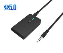 2 で 1 ワイヤレスbluetooth 5.0 トランスミッタ充電式受信機テレビコンピュータ車のスピーカー 3.5 ミリメートルauxハイファイ音楽オーディオアダプタ