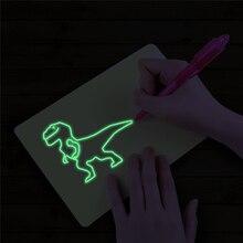 Светящийся светильник, доска для рисования граффити, планшет для рисования, волшебная доска для рисования, светильник для рисования детей, забавная игрушка для обучения подарки
