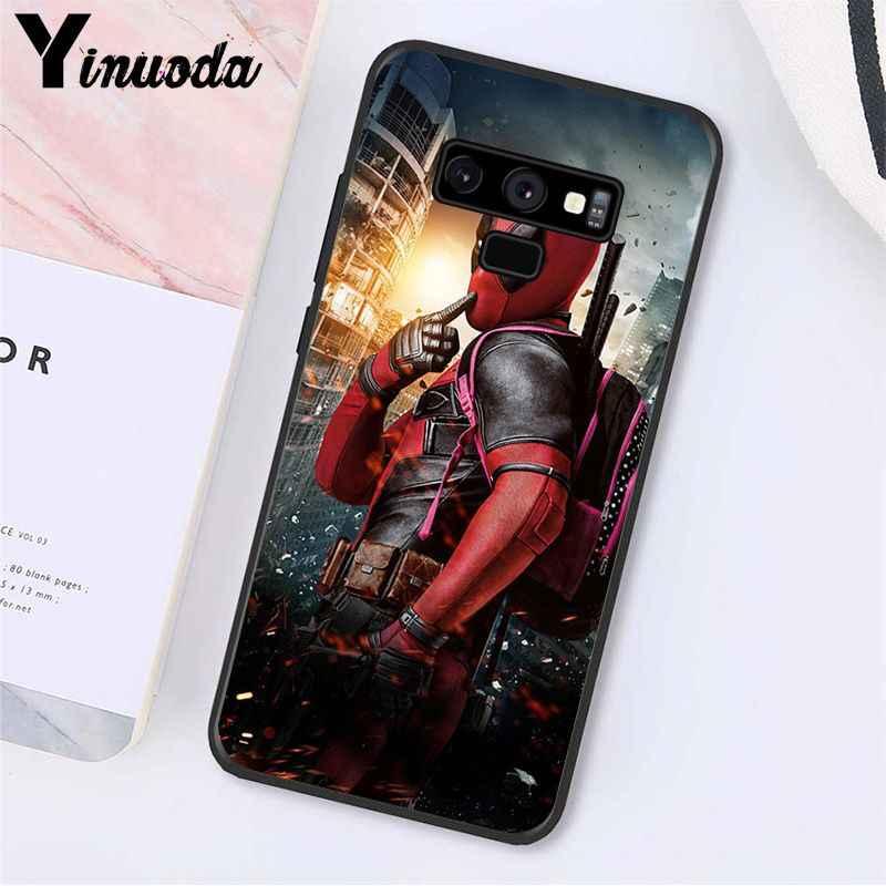 Yinuoda Deadpool Iron Man Marvel Avengers Logo Cassa Del Telefono Per Samsung Galaxy A50 S10 S9 Più Note9 8 Note7 5 4 3