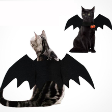 Halloween Pet Dog Costumes Bat Wings Vampire Black Cute Dress Cat Costume Cosplay Clothing