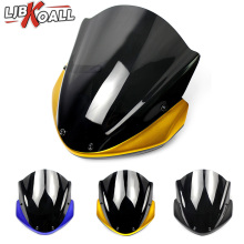 ABS Motorcycle Windshield Windscreen with Upper Fairing Front Cover for 2014 2015 2016 Yamaha FZ-09 MT-09 FZ 09 MT 09 FZ09 MT09 2017 for yamaha mt 09 mt09 fz 09 fz09 2014 2015 2016 2017 motorcycle 100% real carbon fiber front fender cover mud mask new