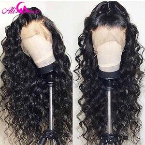 Image 5 - Peluca brasileña profunda rizada del pelo humano 13x6 peluca frontal del pelo humano de la densidad del 150% para las mujeres negras pelucas del cordón del pelo Remy Pre desplumado