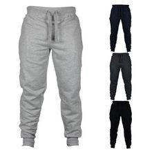 2020 мужские повседневные брюки для пробежек, фитнеса, спортивной одежды, тренировочный костюм, штаны, обтягивающие тренировочные брюки, черн...