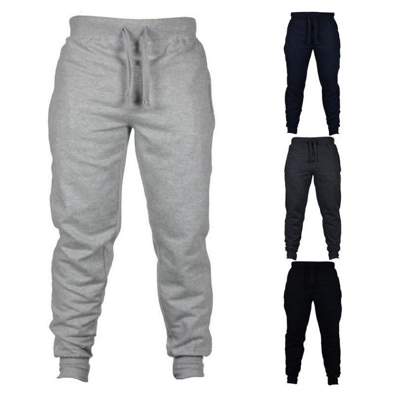 2020 мужские повседневные брюки для пробежек, фитнеса, спортивной одежды, тренировочный костюм, штаны, обтягивающие тренировочные брюки, черные спортивные штаны для бега|Повседневные брюки|   | АлиЭкспресс