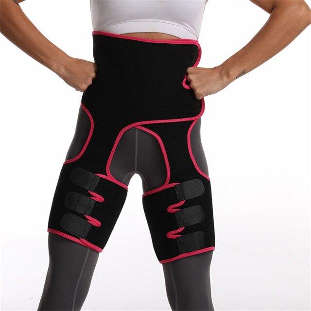 2020 Women High Waist Belts Sweat Thigh Trimmers Leg Shaper Neoprene Slimming Belt Control Panties Fat Burning Wraps Thermo Belt 2