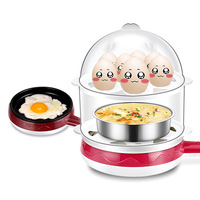 Sharp Collar Manufacturers Direct Selling Double Layer Egg Boiler Small Electric Frying Pan Non stick Pot Steamed Egg Machine za