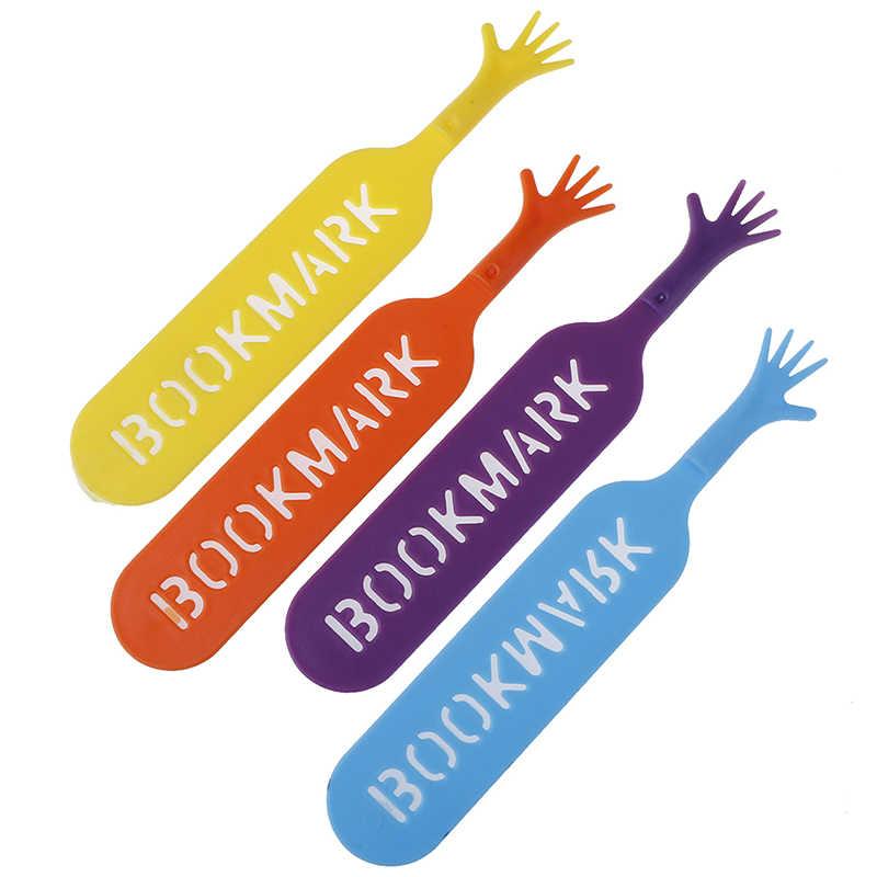 4 teile/los Bunte Lesezeichen Set Kunststoff Neuheit Buch Lesen Artikel Kreative Geschenk für Kinder Kinder Schreibwaren