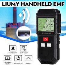 LIUMY Handheld EMF Meter & Battery Electromagnetic Field Radiation Tester Mini Digital LCD Detector Dosimeter for Computer Phone