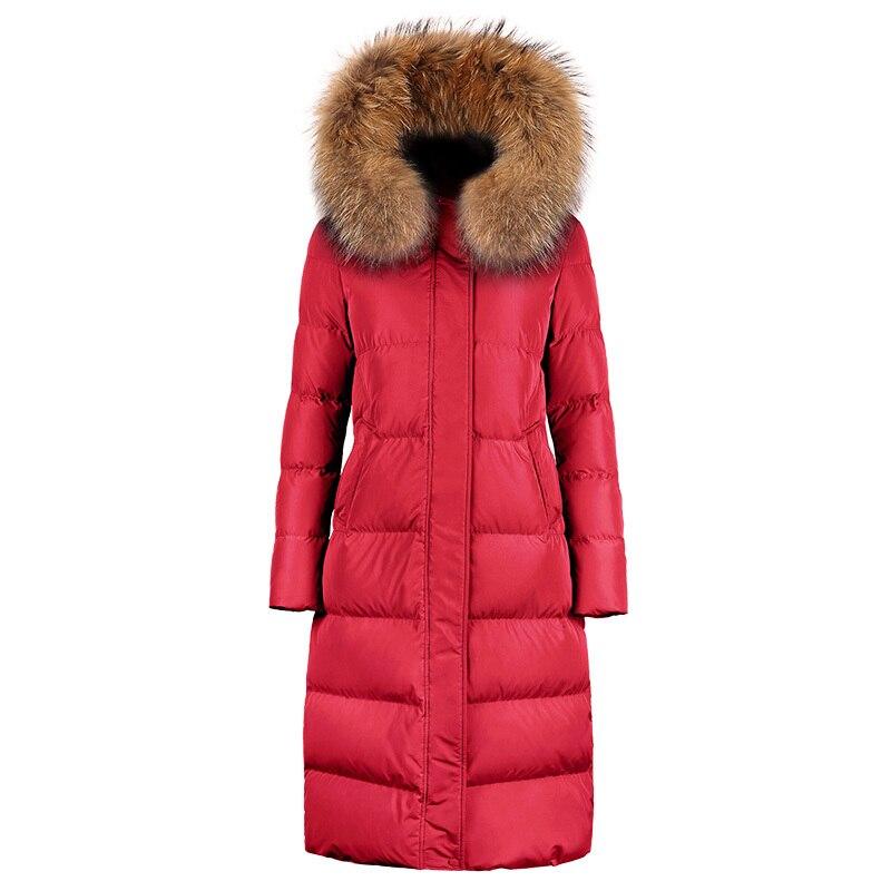 90% Duck Down Jacket Woman Hooded Long Coats Winter Coat Women Clothes 2020 Large Raccoon Fur Collar Korean Parka MY1543