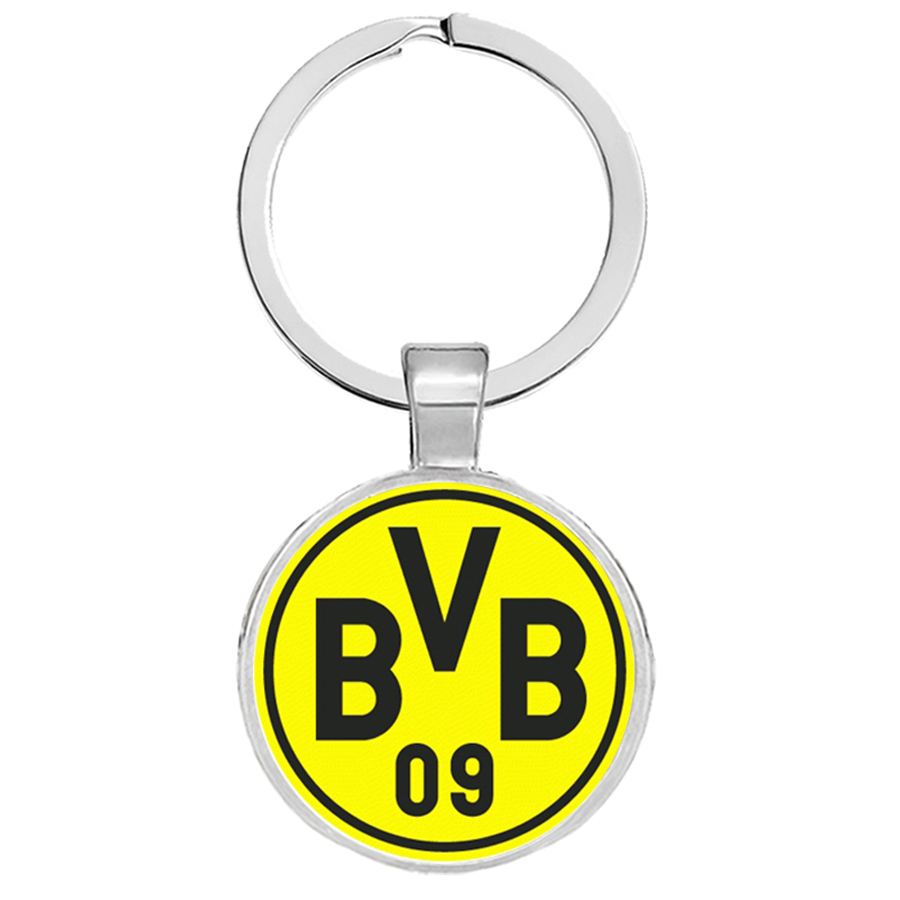 Football Club Keychain Football Team Logo Football Club Logo Keyrings Llaveros Glass Cabochon Jewelry