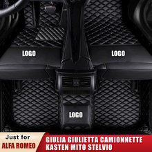 Car-Floor-Mats Carpet-Accessories Giulia STELVIO Custom Camionnette Romeo for Alfa Kasten