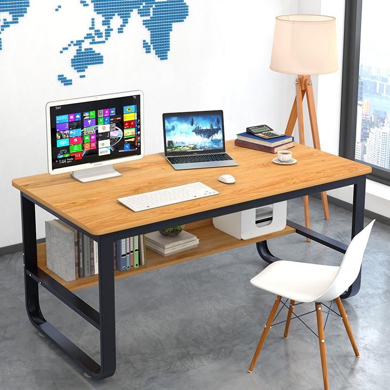 Man Patriarch Computer Desktop Table Home Office Desk Students Writing Desk Minimalist Modern Economical Table