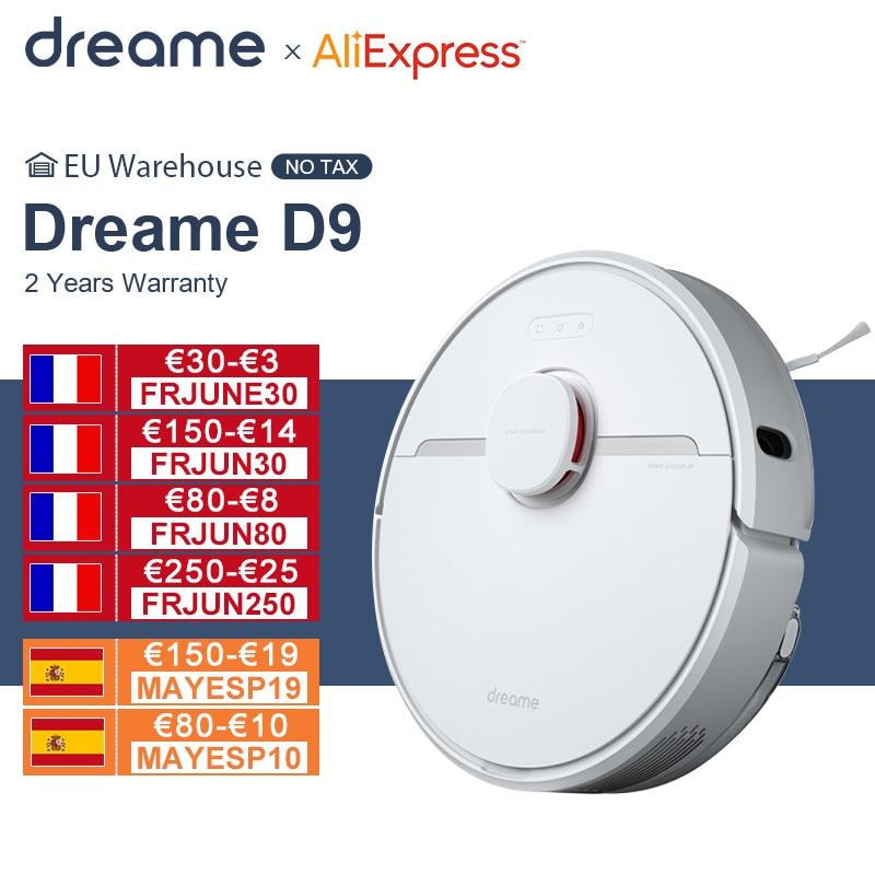 【Promo Code:DREAMEJUNE10】Dreame D9 Roboter Staubsauger Globale Version 3000Pa Saug Kehr Waschen Wischen Roboter Sauger Smart Home MIJIA APP WIFI