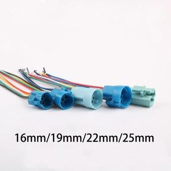 16mm 19mm 22mm 25mm toma de cable para interruptor de botón de metal cableado 2-6 cables lámpara estable botón de luz