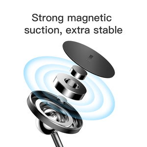 Image 3 - Baseus soporte magnético de teléfono de coche, soporte de coche magnético, soporte de teléfono universal giratorio de 360 grados con pegatinas de 3M