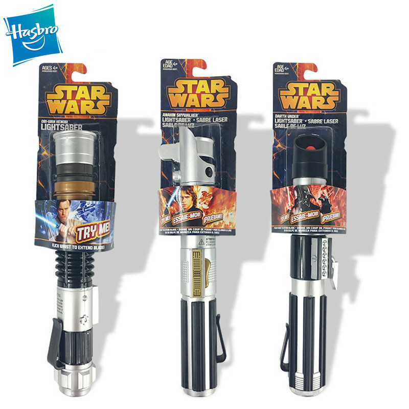 Takara Tomy Star Wars Lightsaber Throwing And Throwing Type Telescopic Function Colorful Lighting Lightsabers Kids Toys