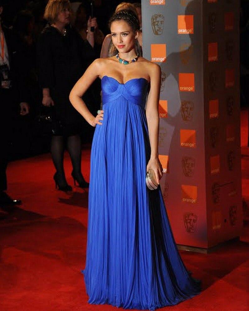 Royal bleu Empire robes de soirée de maternité chérie ruché Tulle célébrité robes de nuit formelles pour les femmes enceintes élégantes