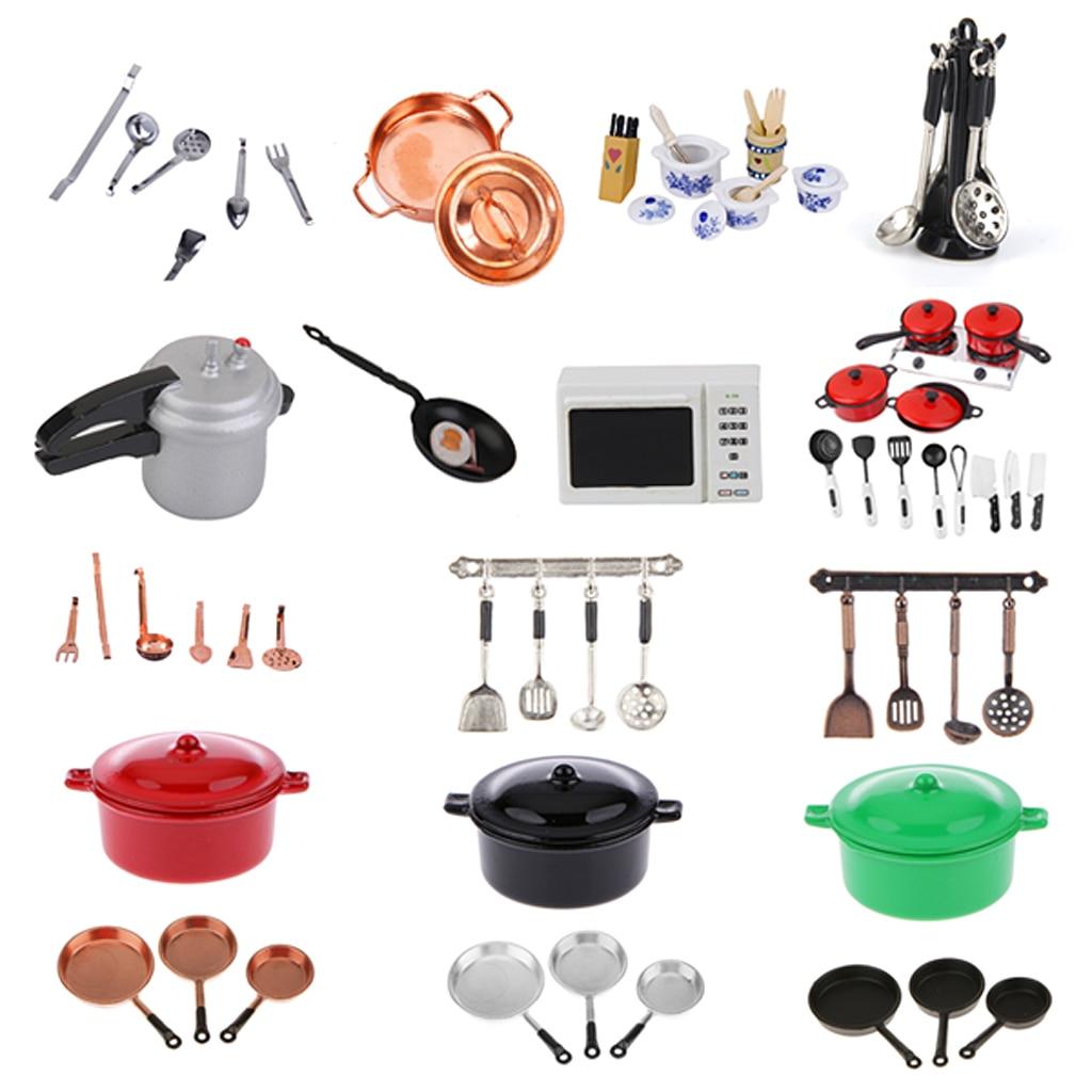Casa de muñecas miniatura utensilios de cocina vajilla fruta Jam batalla cocina Mesa Decoración