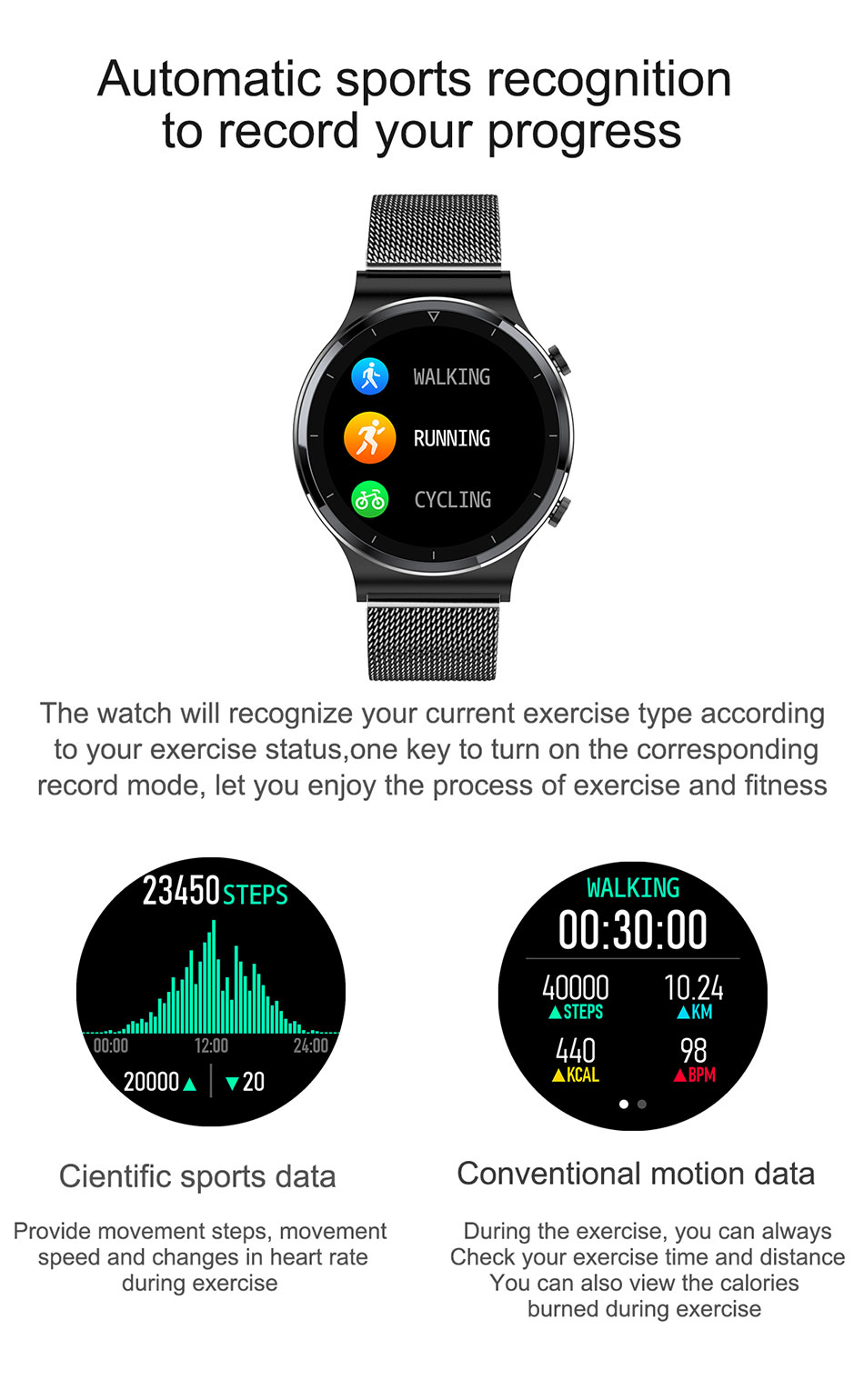 Hb812df9f73f64078998c6790d2e4a6bf2 LIGE New Smart watch Men Heart rate Blood pressure Full touch screen sports Fitness watch Bluetooth for Android iOS smart watch