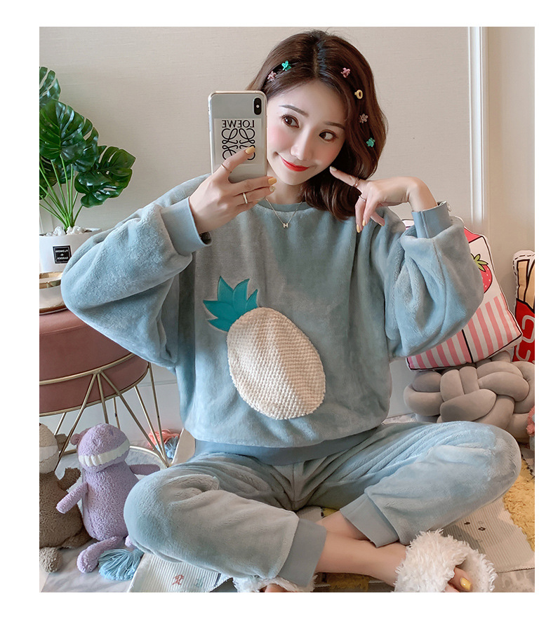 Betyline 2019 New Winter Pajamas For Women Sleepwear Warm Flannel Long Sleeves Pajamas Cute Animal Homewear Thick Homewear 189