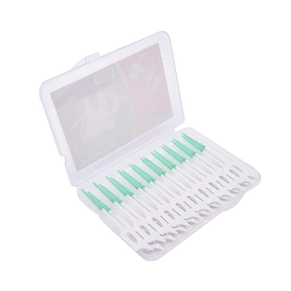 16 шт./компл., мягкая резиновая межзубная щетка для чистки зубов, инструменты для гигиены зубов, эластичные зубные палочки|Межзубная щетка|   | АлиЭкспресс
