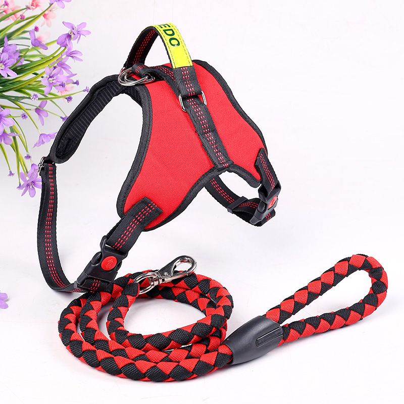 New Style Canvas Oxford Cloth Saddle Type Dog Hand Holding Rope Little Big Medium-sized Dog Dog Chest Strap Dog Traction Belt Ca