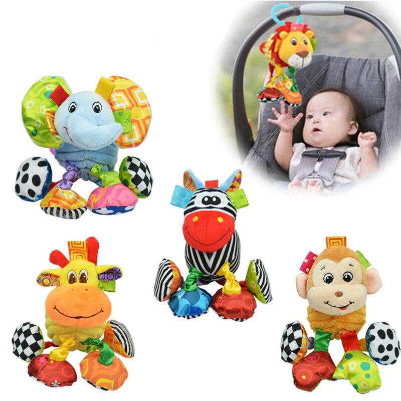 Детская погремушка, кольцо, колокольчик, прорезыватель, висячий слон, обучающее животное, кроватка, Ранняя игрушка, кукла для младенцев