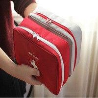 Leer Großen First Aid Kit Tasche Notfall Medizinische Box Tragbare Reise Outdoor Camping Überleben Medizinische Tasche|Notfallkoffer|   -