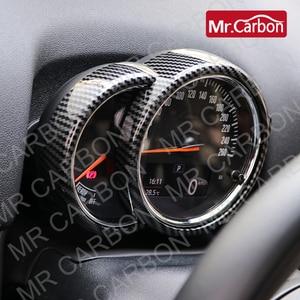 Image 1 - רכב טכומטר דקורטיבי כיסוי עבור BMW מיני אחד CooperS F54 F55 F56 F57 F60 ABS פלסטיק פחמן סגנון אביזרי שינוי