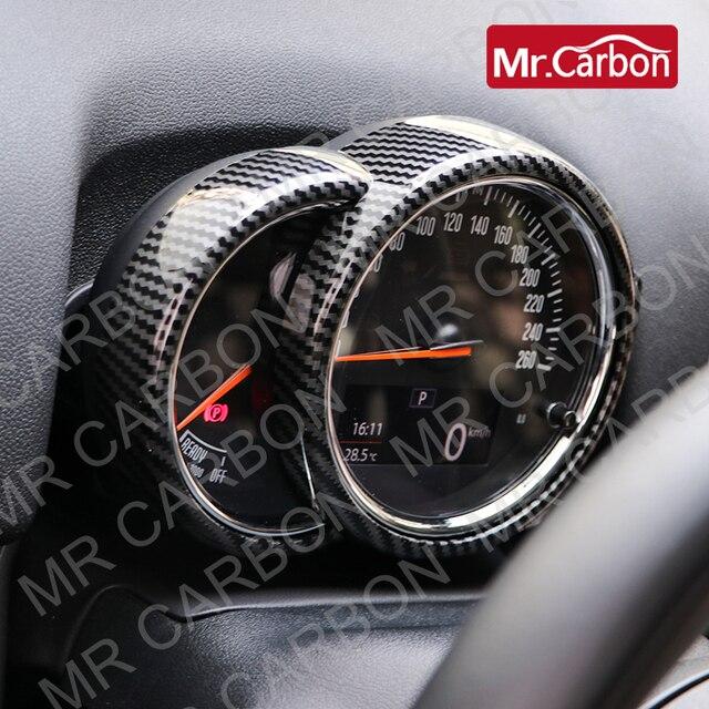 רכב טכומטר דקורטיבי כיסוי עבור BMW מיני אחד CooperS F54 F55 F56 F57 F60 ABS פלסטיק פחמן סגנון אביזרי שינוי
