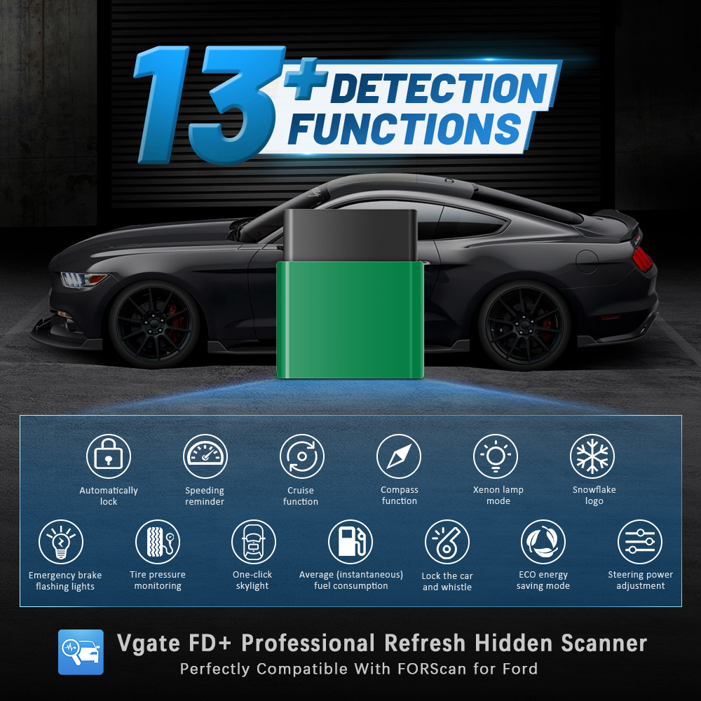 Vgate vlinker fd + elm327 bluetooth 4.0 forscan para ford wifi obd2 carro diagnóstico obd 2 scanner j2534 elm 327 ms pode ferramentas de automóvel
