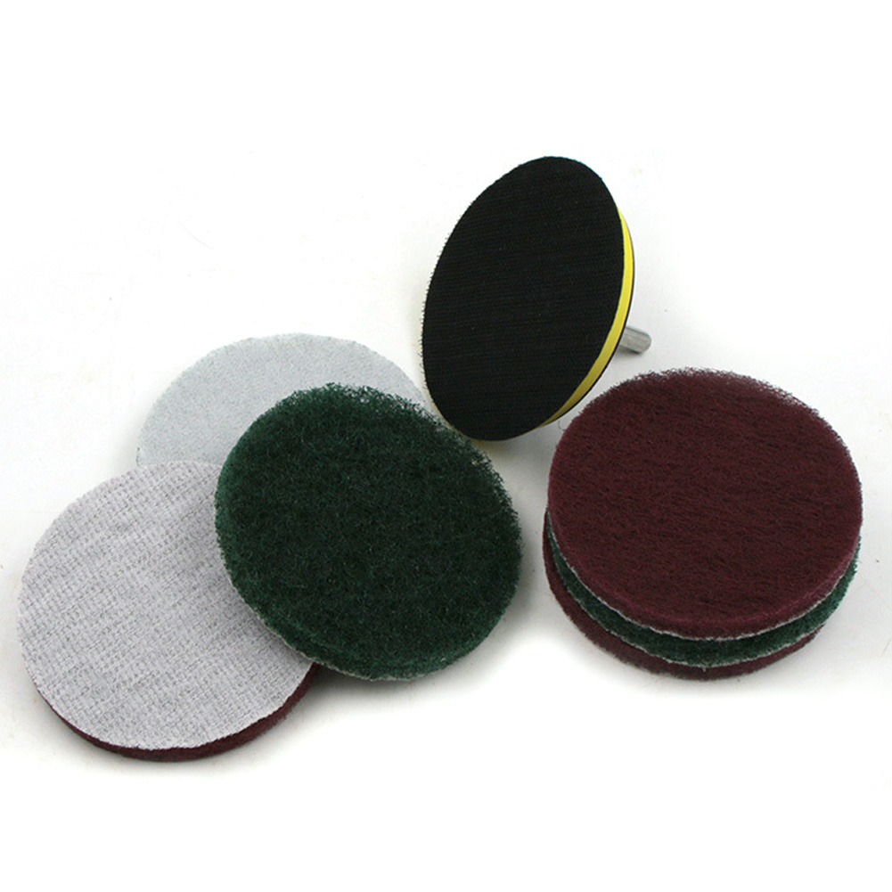 4 Inch Scouring Pad Drill Clean Pad With Bath Brush Tile Power Cleaning Scouring Pad Cleaner For Electric Drill Bits Machine Use
