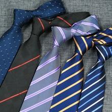 8CM Mens Ties Polyester Silk Floral Paisley Formal Dress gravata corbatas Wedding Business Necktie Classic Neck ties For Men
