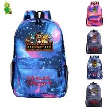 Śmieszne pięć nocy w Freddy FNAF plecak na co dzień torby podróżne szkolne torby dla nastolatków kobiety mężczyźni plecak na laptopa książka dla dzieci torby