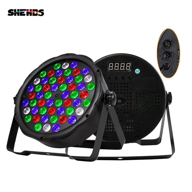 1/4/8/10pcs LED 54x3W RGBW Color Flat Par Lighting For Disco DJ Music Party Club Dance Floor Bar Darkening SHEDHS Stage Light