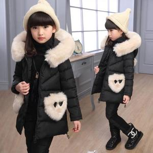 Image 3 - Winter 3 piece Set Girls Children Clothing Warm Parka Down Jacket Girl Clothes Childrens Coat Snow Wear Suit Winter Jacket Coat