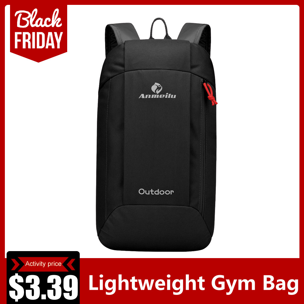 Lightweight Gym Bag Foldable Backpack Waterproof Backpack Folding Bag Ultralight Outdoor Pack For Women Men Travel Hiking 10L