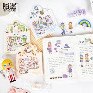 Image 4 - Mo. Karte Tragen tagebuch Papier aufkleber Scrapbooking Dekoration label 1 lot = 16 packs Großhandel
