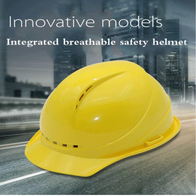 Hard Hat Abs Site Ventilation Construction Engineering Leadership Thickening Electrician Anti-mite Fiberglass Helmet