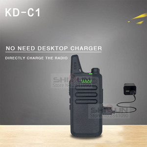 Image 2 - 2pcs WLN KD C1 Mini Walkie Talkie 5W UHF Handheld Two Way Radios RT22 WLN Radio 5W Mini Portable 2 way radio UHF 400 470 USB