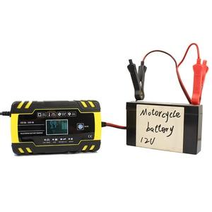 Image 4 - Cargador de batería automático para coche cargador de batería de ácido de plomo seco y húmedo, con pantalla LCD Digital, 12V 24V, 8A