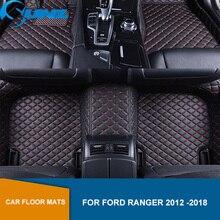 цена на Car floor mats For Ford Ranger T6 T7 T8 2012 2013 2014 2015 2016 2017 2018 Custom auto foot Pads automobile carpet cover SUNZ
