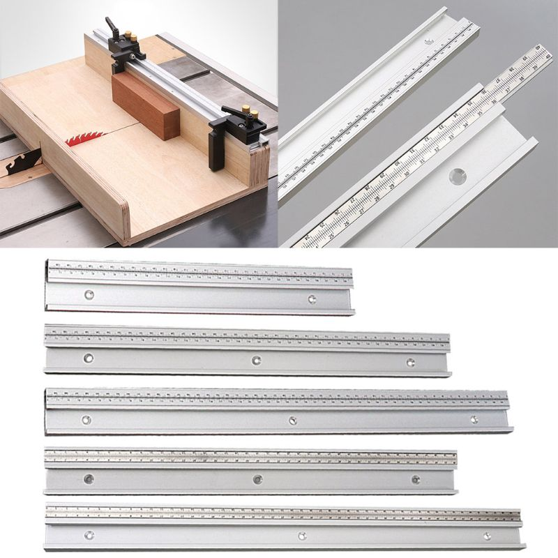 45 Type T Track With Scale Gauge T-tracks Slot Miter Track DIY Table Saw Workbench Woodworking Tool