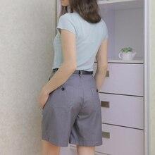 S-3XL Костюмы Шорты женские Харадзюку Высокая Талия Короткие брюки прямые винтажные женские шорты 2020 Свободные повседневные черные шорты размера плюс