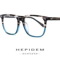 Acetate Glasses Frame Men Square Prescription Eyeglasses 2019 New Women Male Nerd Myopia Optical Clear Spectacles Eyewear FONEX
